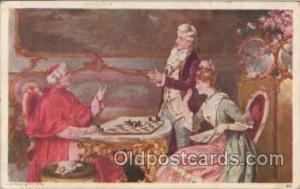 Checkers, Chess Postcard Postcards
