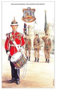 Postcard British Army Series No.32 The Devonshire & Dorset Regiment Geoff White