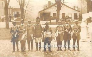 Real Photo Minstrel Postcard The Stunt Carnival Band, Ohio University, Athens...
