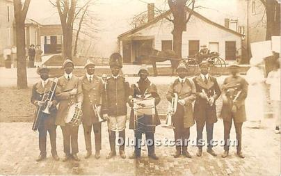 Real Photo Minstrel Postcard The Stunt Carnival Band, Ohio University, Athens...