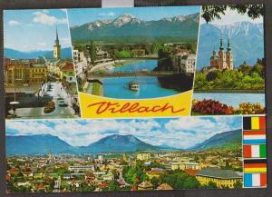 Villach Austria Multi-view Card - Used