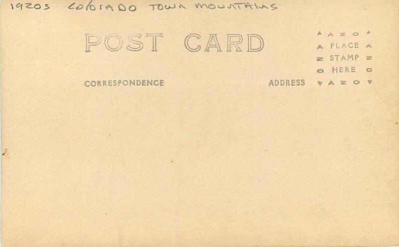 Colorado Town Mountains 1920s RPPC Photo Postcard 20-83