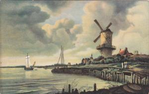 AS; AMSTERDAM, North Holland, Netherlands; Windmuhle am Wasser, Jacob van R...
