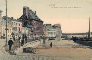Belgie - Liege La Maison Curtius et la Quai de Maestricht 02.78