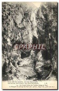 Old Postcard The Grand Canyon Du Verdon The Maugue Or Passage of the Styx
