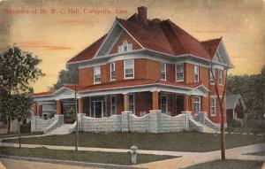 Coffeyville Kansas~Mansion Dr WC Hall~Member Indian Territory Medical Assn~1908