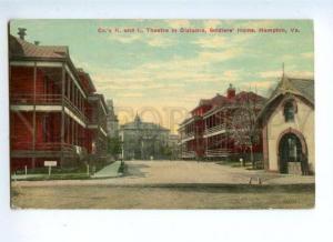 144728 USA HAMPTON VA Soldiers home Thetre Vintage postcard