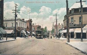 Trolley on Huguenot Street - New Rochelle NY, New York - pm 1907 - DB