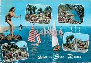 Postcard Modern Riviera dei Flori Salutarion S Remo