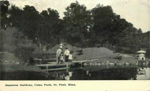 Como Park St Paul Minnesota Japanese Garden 1910 Postcard 3395