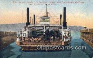 Southern Pacific C0, Ferryboat, Solano, Port Costz Benicia, CA USA Steam Ship...