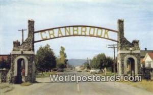 British Columbia, Canada East Entrance Cranbrook Cranbrook Cranbrook East Ent...