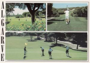 Portugal Golf Course Algarve Teeing Off 3 Views Postcard