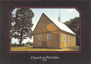 Lithuania Kirche Church in Pievenai 1788