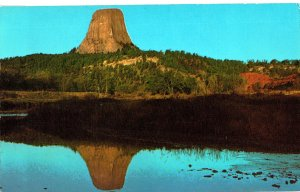 R. 197 Devil's Tower Reflected in Belle Fourche River