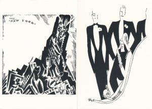 (9 cards) Graphic Design Artist Hans Schleger a/s Zero B/W Ads on Postcards