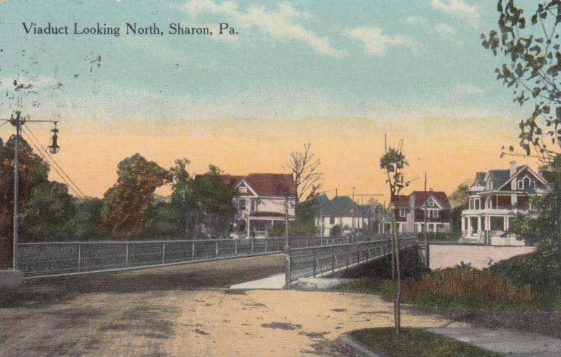 SHARON , Pennsylvania, 1900-1910s ; Viaduct looking north