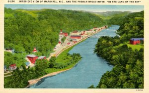 NC - Marshall. Town and French Broad River