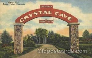 Crystal Cave, Spring Valley, Wisconsin, USA Advertising Postcard Post Card  C...