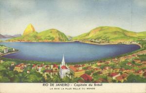 brazil, RIO DE JANEIRO, La Baie la Plus Belle du Monde (1937)