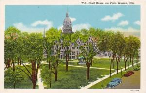 Ohio Warren Court House and Park Curteich