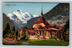 Interlaken Switzerland, Casino Kursaal Vintage c1927 Postcard