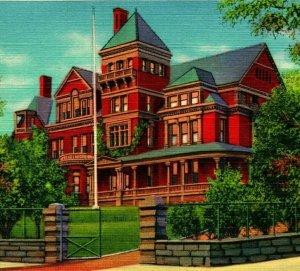 Albany New York Ny Governors Herrenhaus Unbenutzt Unp Vtg Leinen Postkarte