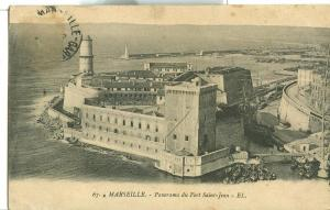 Marseille, Panorama du Fort Saint-Jean, early 1900s used