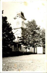 Vtg Postcard RPPC 1940s - Court House - Harrisville MI MIchigan - Unused