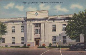 Lee County Court House Tallahassee Florida Curteich