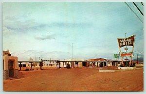 Santa Fe New Mexico~Adobe Motel~Roadside Albuquerque Highway~Neon Sign~1960