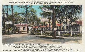 BRUNSWICK, Georgia, 1910-20s; Palmetto Tourist Camp