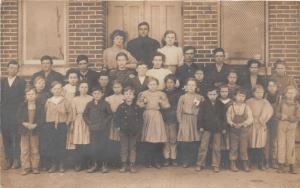 F5/Bryant  Indiana Real Photo RPPC Postcard 1909 Kit School Students