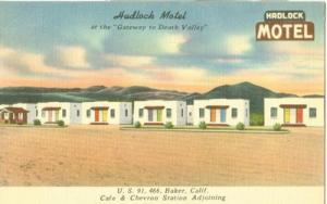 Hadlock Motel, at the Gateway to Death Valley, Baker, Cal...