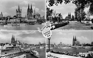 Die schoene Koeln, Rheinpartie mit Blick auf Dom, Schiff River Boats Cathedral