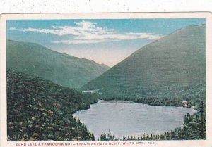 New Hampshire White Mountains Echo Lake & Franconia Notch From Artists Bluff