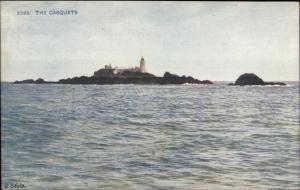 The Casquets - UK? Lighthouse c1910 Postcard