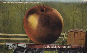 Exageration Train Car With Large Apple