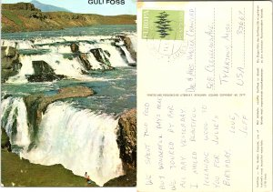 Gullfoss, The Golden Waterfall one of Iceland's most beautiful waterfalls