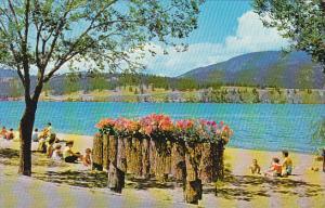 Canada Bathing Beach At Kelowna British Columbia