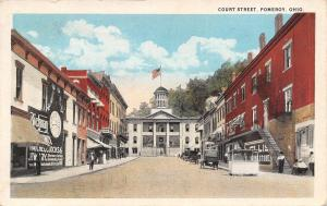 Pomeroy Ohio~Court Street~Clothing Store~Richman Jewlers Clock~Shoppers~1920 Car