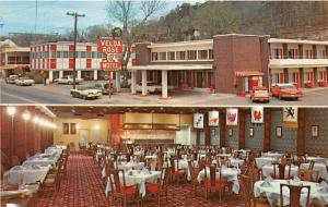 Hot Springs National Park Arkansas~Velda Rose Motel~2 Views~Dining Room~50s Cars