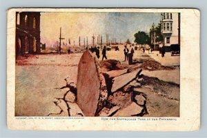 San Francisco CA, Earthquake Tore Up Pavement, Vintage California Postcard