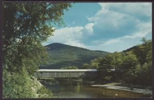 Covered Bridge,Old Scott Bridge,VT Postcard