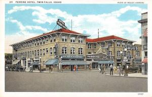perrine hotel twin falls idaho L3044 Antique Postcard