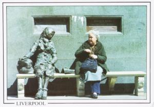 Eleanor Rigby Statue Liverpool Tommy Steele Artist Unused Vintage Postcard D31
