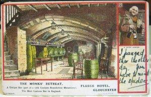 England Monks' Retreat Fleece Hotel Gloucester - posted