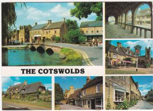 Postcard Gloucestershire The Cotswolds 6 views