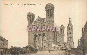 Postcard Old Lyon Notre Dame de Fourviere