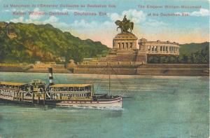 Germany the Emperor William Monument of the Deutschen Eck steamer ship